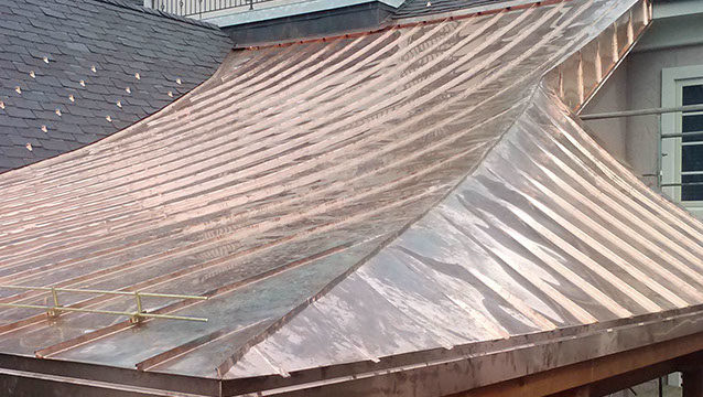 Concave Copper Roof Metal Design Madison